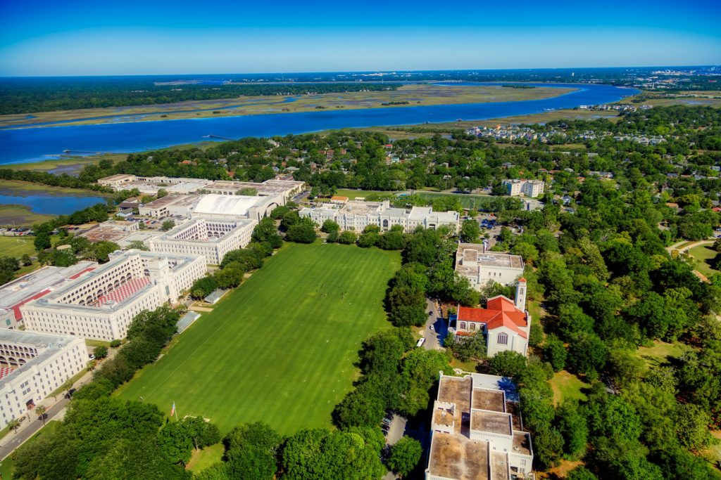 birds eye view of the citadel property